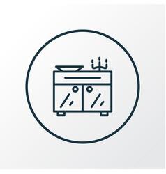 Sideboard icon line symbol premium quality vector