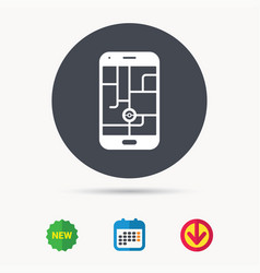 Smartphone device icon go symbol vector