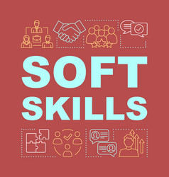 Soft skills word concepts banner vector