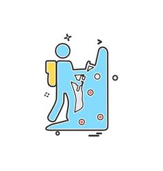 sports icon design vector image