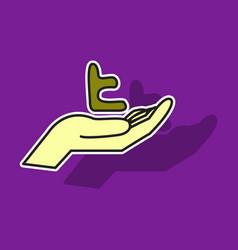 Sticker tumblr social media icons vector