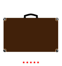 suitcase icon color fill style vector image