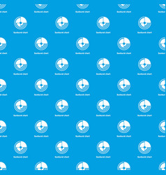 Sunburst chart pattern seamless blue vector
