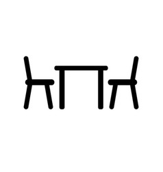 Table chair icon vector