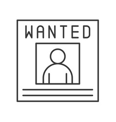 Wanted poster announcement police related icon vector