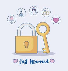 wedding concept design vector image