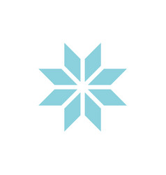 winter snowflake romb icon vector image