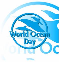 World ocean day 6 vector