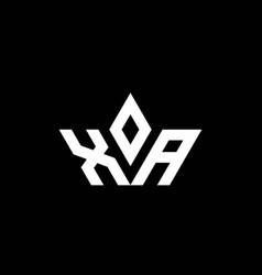 Xa monogram logo with crown shape luxury style vector