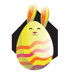 yellow easter rabbit in form of an egg web on a vector image