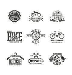 bike shop bicycle biking vintage labels vector image vector image