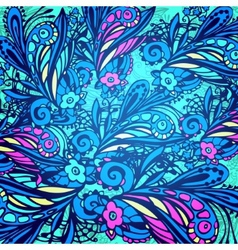 Blue flower seamless pattern vector image vector image