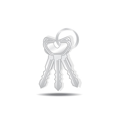 Keys isolated vector