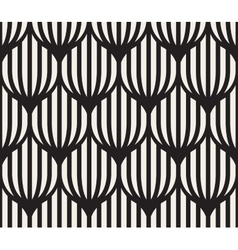 Seamless black and white lines lattice vector