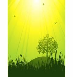 tranquil summer landscape vector image vector image