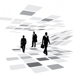 walking business people vector image