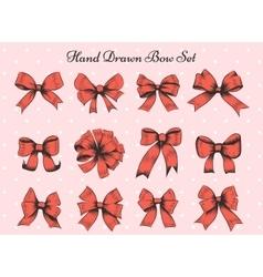 Hand Drawn Bow Set vector image vector image
