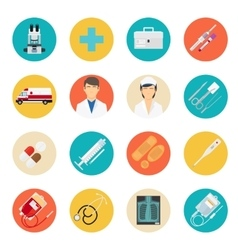 Medical tools and health care icons vector image vector image
