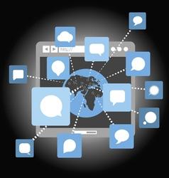 Abstract web community scheme vector image vector image