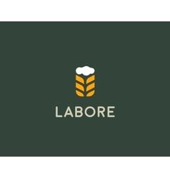 Brewery logotype beer logo design template vector