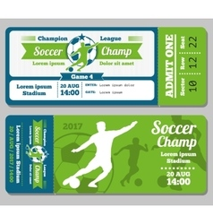 Football soccer ticket template vector image vector image
