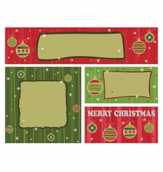 red and green Christmas banners vector image vector image