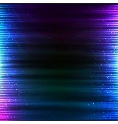 Blue shining technology lights sound background vector image