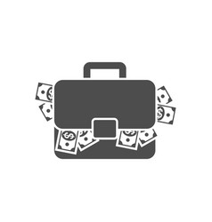 briefcase with money vector image vector image