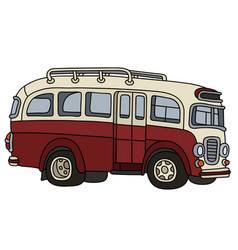 funny old red bus vector image vector image