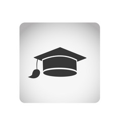 monochrome square frame with silhouette graduation vector image vector image