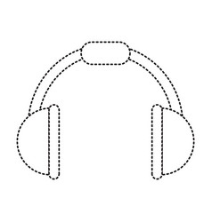 music headphones device icon vector image vector image
