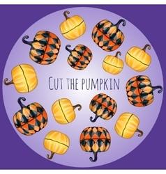 Set of unusual pumpkins decor vector image