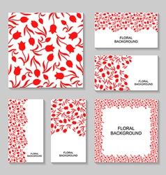 tulip back set vector image