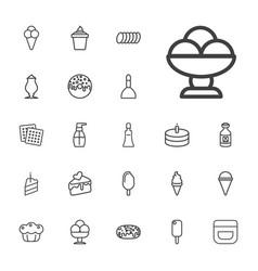 22 cream icons vector
