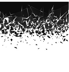 abstract cloud pieces and fragments after vector image