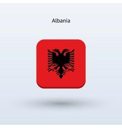 Albania flag icon vector