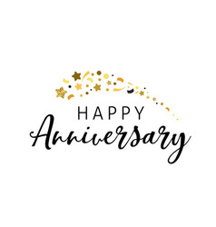 anniversary celebration design with lettering vector image