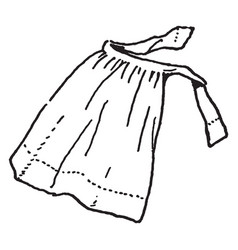 Apron are ties around the waist vintage engraving vector