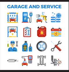 Automotive garage and service flat icon vector