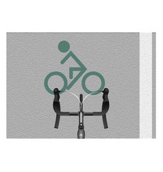 Bike lane vector