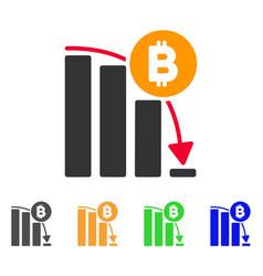 bitcoin panic fall chart icon vector image