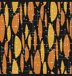 Black and orange geometric atomic style seamless vector