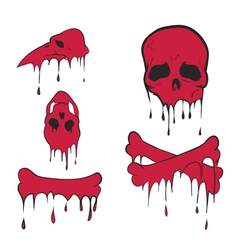 bones set vector image