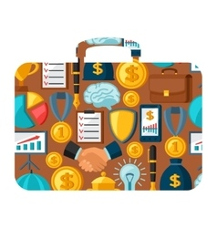 Business and finance concept from icons in shape vector image