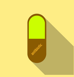 Capsules info graphic painkillers antibiotics vector