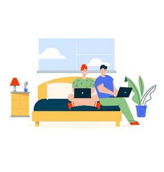 character couple work vector image
