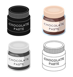 Chocolate paste icon in cartoon style isolated on vector