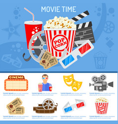 Cinema and movie time concept vector
