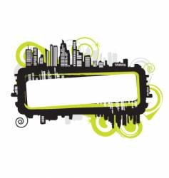 cityscape silhouette frame vector image