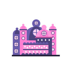 colorful majestic palace building vector image
